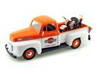 Ford: F-1 (1948) - 1:24 c/ Moto FL Panhead (1948) -Laranja- 1:24