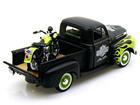 Ford: F-1 Pickup (1948) - 1:24 c/ FL Panhead (1948) - Preta e Verde 1:24
