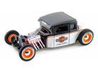 Ford: Model A (1929) - Harley Davidson - Branco/Preto - 1:24