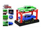 Set Dodge Charger R09 (1966) - Verde/Azul - Auto Lift - 1:64