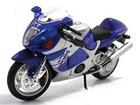 Imagem - Suzuki: GSX 1300R Hayabusa - Azul/Prata - 1:12 - Maisto
