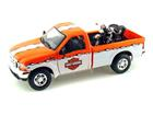 Ford: F-350 Super Duty (1999) -1:27 c/Moto EL Knucklehead (1936) - Branco e Laranja - 1:24 - Maisto