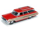 Ford: Country Squire (1964) - Vermelho - Muscle Wagons - 1:64