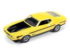 Ford: Mustang Mach 1 (1971) - Amarelo - Muscle Machines - 1:64
