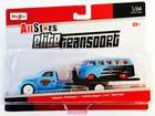 Imagem - Caminhão Prancha c/ Volkswagen Van Samba - Elite Transport - AllStars 1:64 - Maisto