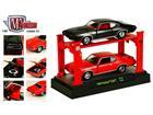 Set: Pontiac GTO (1969) - Preto / Vermelho - 1:64 - Auto Lift