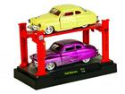 Set: Ford Mercury (1949) - Amarelo/ Roxo - 1:64 - Auto Lift
