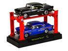 Imagem - Set: Chevrolet Bel Air (1955) - Preto/ Azul - 1:64 - Auto Lift