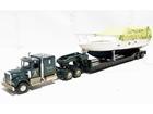 Imagem - Kenworth: W925 Truck c/ Reboque Lowboy e Carga de Barco - 1:50 - Corgi