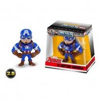 Imagem - Boneco Captain America M500 - Marvel Avengers - Metals Die Cast - 2.5'' 6cm - Jada Toys