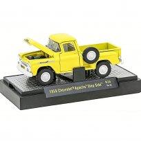 Imagem - Chevrolet: Apache Step Side (1958) - Auto Trucks - Amarelo - 1:64 - M2 Machines