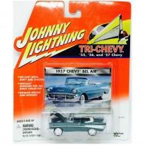 Imagem - Chevrolet: Bel Air (1957) - Verde - Tri-Chevy - 1:64 - Johnny Lightning