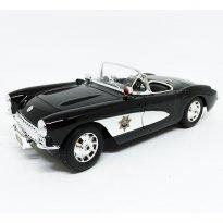 Imagem - Chevrolet: Corvette Police (1957) - Preto - 1:18 - Maisto