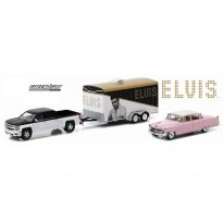 Imagem - Chevrolet Silverado 1500 (2015) / Cadillac Fleetwood Series 60 (1955) c/ Trailer - Elvis Presley - Hitch & Tow - Series 2 - 1:64 - Greenlight