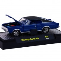 Imagem - Dodge: Charger 383 (1966) - Detroit Muscle - Azul - 1:64 - M2 Machines
