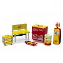 Imagem - Set: Shop Tools - Ferramentas e Acessórios Shell - GL Muscle  - 1:64 - Greenlight