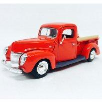 Ford: Pickup (1940) - Vermelha - 1:24 - Motor Max