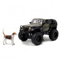 Imagem - Jeep: Wrangler (2007) c/ Figura Cão - Camuflado - Realtree - 1:24 - Jada