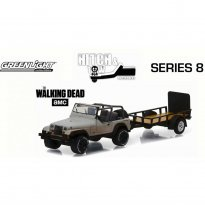 Imagem - Jeep: Wrangler YJ c/ Trailer - Michonne's - The Walking Dead - Hitch & Tow - Série 8 - 1:64 - Greenlight