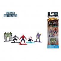 Imagem - Pack c/ 5 Figuras - Spider-Man - Marvel - Nano Metalfigs - Jada Toys