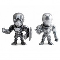 Imagem - Bonecos Captain America and Iron Man M51 - Capitão América Guerra Civil - Marvel - Metals Die Cast (2 Pack) - Jada Toys