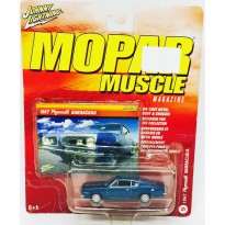 Imagem - Plymouth: Barracuda (1967) - Azul - Mopar Muscle - 1:64 - Johnny Lightning