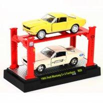 Imagem - Set: Ford Mustang (1965) - Amarelo/Branco - Auto Lift - 1:64