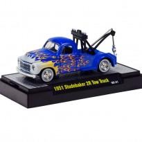 Imagem - Studebaker: 2R Tow Truck (1951) Wild-Cards - Azul - 1:64 - M2 Machines
