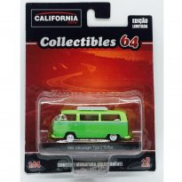Imagem - Volkswagen: Kombi / Bus Type 2 T2 (1968) - Verde - California Toys - 1:64 - Greenlight