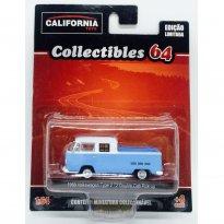 Imagem - Volkswagen: Kombi Type 2 T2 Double Cab Pickup (1968) - Azul - California Toys - 1:64 - Greenlight