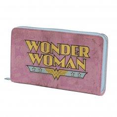 Imagem - Carteira PU Com Zíper Wonder Woman Rosa - Mulher Maravilha