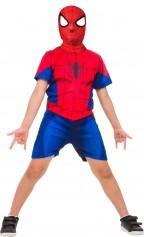 Imagem - Fantasia Infantil Homem-Aranha Curto Clássico - Homem-Aranha