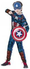 Imagem - Fantasia Infantil Capitão América  Vingadores da Marvel com escudo - Capitão América