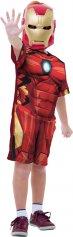 Imagem - Fantasia Infantil Iron Man Vingadores da Marvel com peitoral e máscara - Homem de Ferro