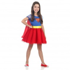 Fantasia Infantil Super Mulher Princesa DC Comics - Super-Mulher
