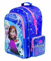 Imagem - Mochila Escolar Infantil G Disney Frozen com Brinde Trança - Frozen