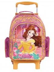 Imagem - Mochilete com rodinhas Escolar Infantil M Princesas Disney - A Bela e a Fera