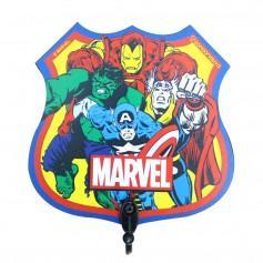 Imagem - Pendurador de 1 gancho 12x12x1cm Comics - Heróis Marvel