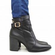 Bota Ankle Boot Com Pelo Fiero