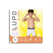 Kit C/ 2 Cuecas Infantil Lupo Boxer