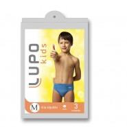 Kit C/ 3 Cuecas Infantil Lupo Slip