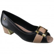Sapato Usaflex Feminino Peep Toe