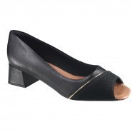 Sapato Usaflex Peep Toe Feminino