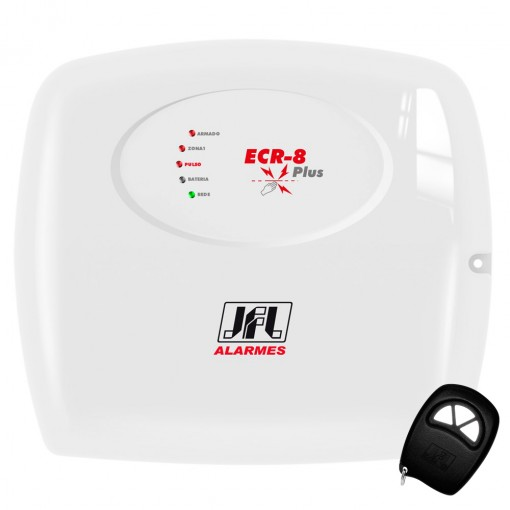 Central de Cerca El�trica Eletrificador com Alarme ECR-8 Plus JFL