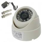 Dome Câmera IR 24 Leds 1/4 CCD 1200TVL 3,6mm (Visão noturna de 20) + Grátis: Fonte 12V 1A