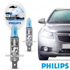 Farol Lâmpada Automotiva H1 Crystal Vision Ultra 4300K Philips