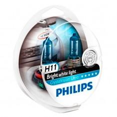 Farol L�mpada Automotiva H11 Crystal Vision Ultra 4300K Philips