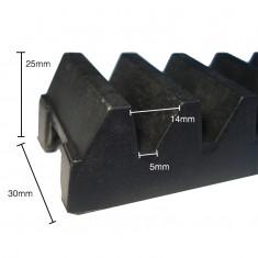 Gomo de Nylon para Cremalheira Industrial 27 Cent�metros