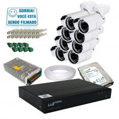 Kit 8 Câmeras de Segurança Infra AHD com Dvr 16 Canais AHD Luxvision + HD 1TB