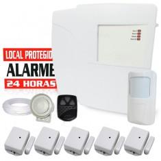 Kit Alarme Residencial ou Comercial Bopo 2 Setores com 6 Sensores sem fio